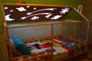 Παιδικό κρεβάτι με φωτιστικό