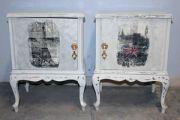Κομοδίνα λευκά καί vintage